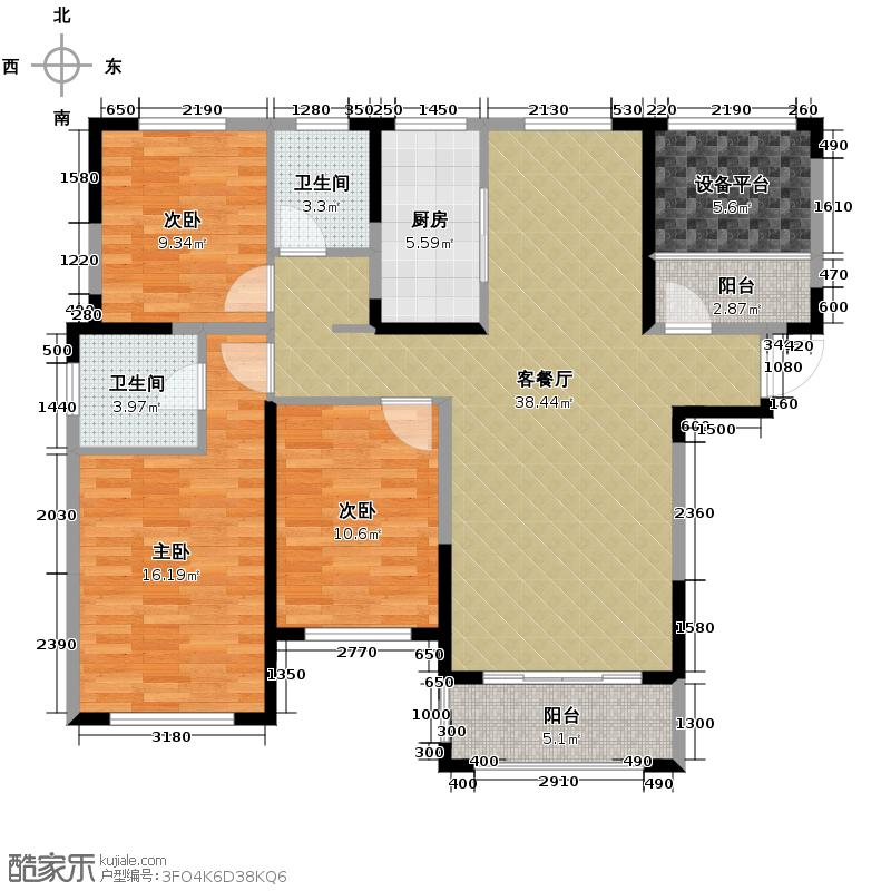淮矿东方蓝海133.00㎡G户型3室2厅2卫