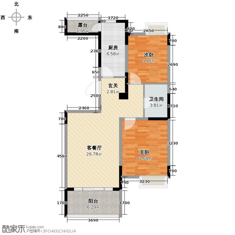 保利心语花园89.00㎡B1-1户型2室2厅1卫