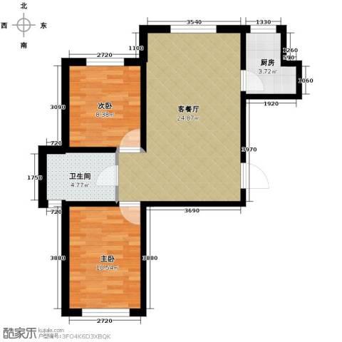 耶鲁印象2室1厅1卫0厨79.00㎡户型图