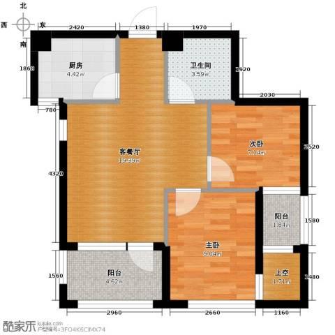 乐城2室2厅1卫0厨67.00㎡户型图