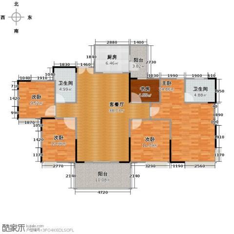 康怡丽苑5室1厅2卫1厨175.00㎡户型图