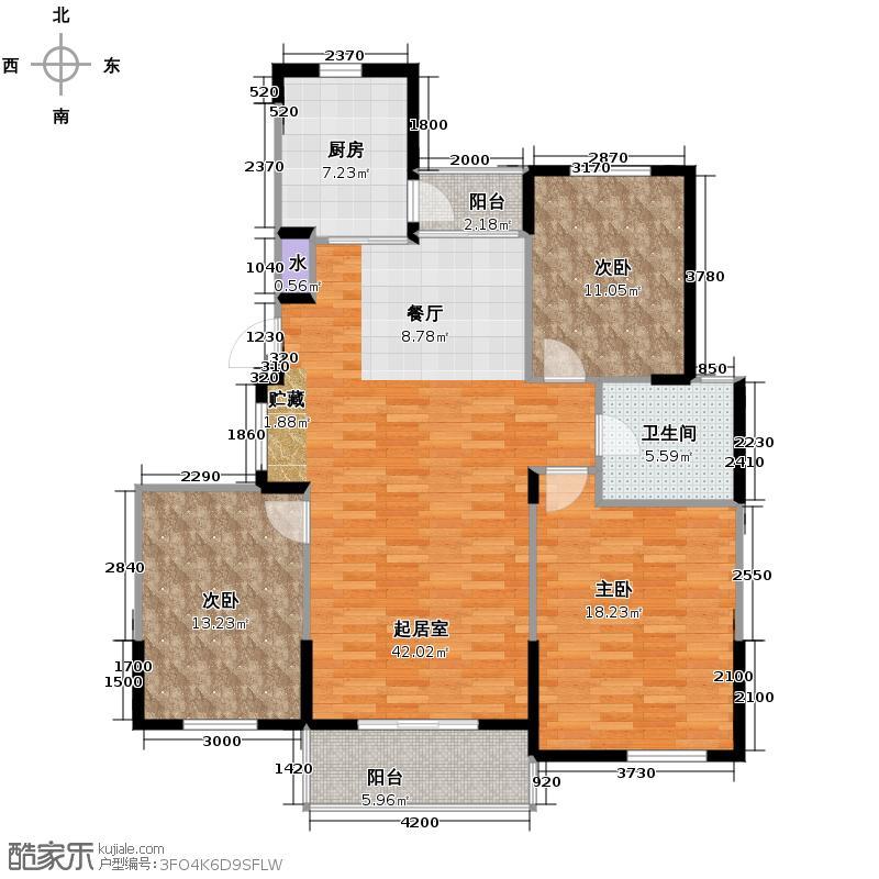 大华锦绣华城123.00㎡S型双阳台户型10室