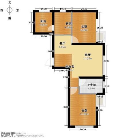 金沙岭�2室2厅1卫0厨68.00㎡户型图