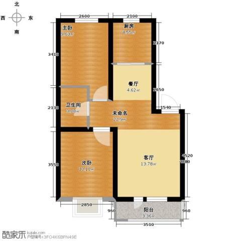 金沙岭�2室2厅1卫0厨79.00㎡户型图