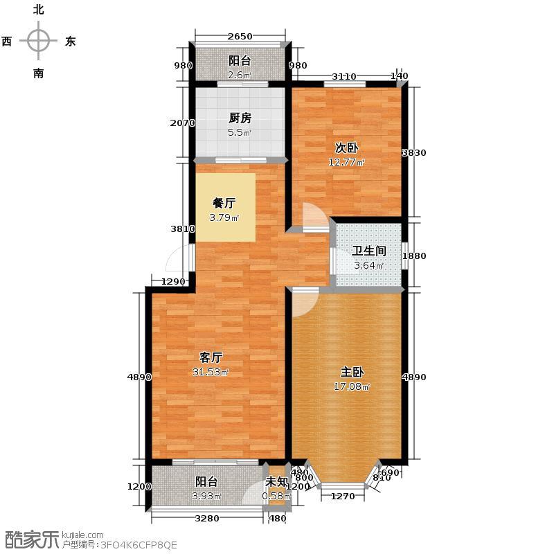 世代龙泽湾98.00㎡1/3/5/7/9#A户型10室
