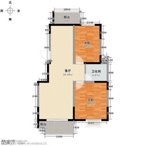 鸿雁名居2室1厅1卫0厨103.00㎡户型图