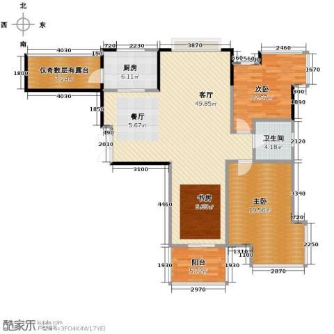 左邻右舍2室1厅1卫1厨113.00㎡户型图