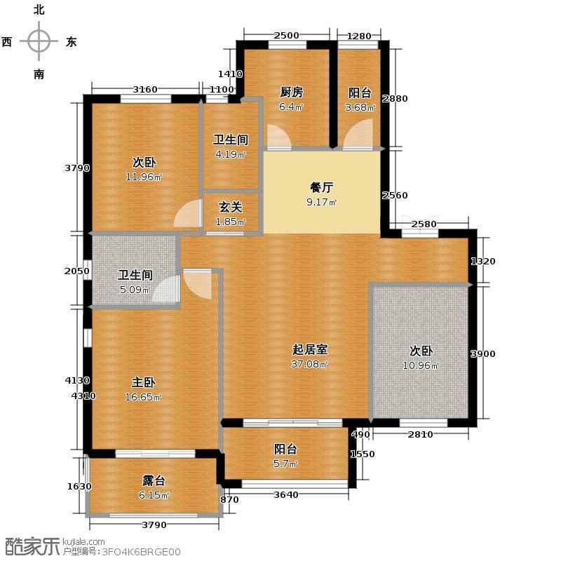 紫金东郡122.34㎡13#40户型10室