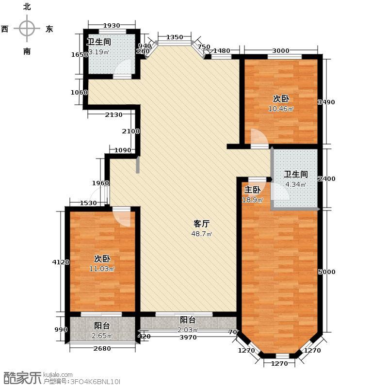 雍和慢城152.10㎡3号楼B户型3室2厅2卫