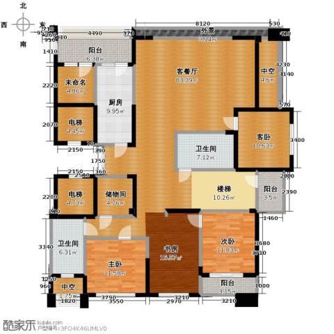 海威国际3室1厅2卫1厨370.00㎡户型图