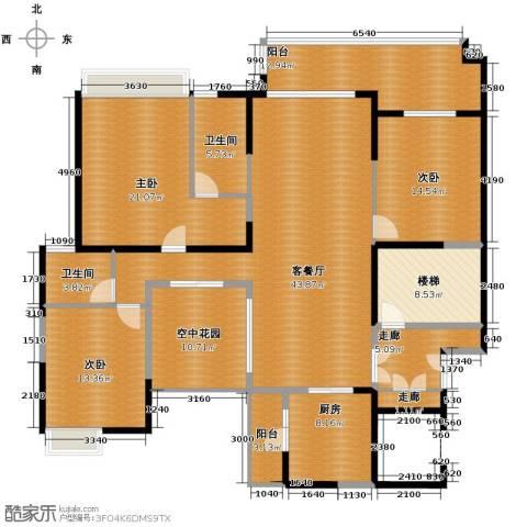 保利外滩一号3室2厅2卫0厨152.06㎡户型图