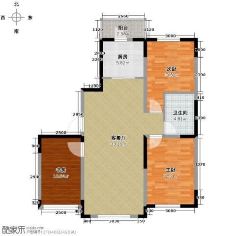 众诚一品东南3室1厅1卫1厨103.00㎡户型图