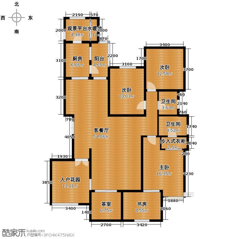 汇锦城200.03㎡藏龙福地10#户型4室1厅2卫1厨