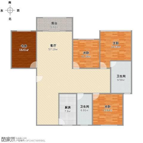 万科优诗美地4室1厅2卫1厨188.00㎡户型图