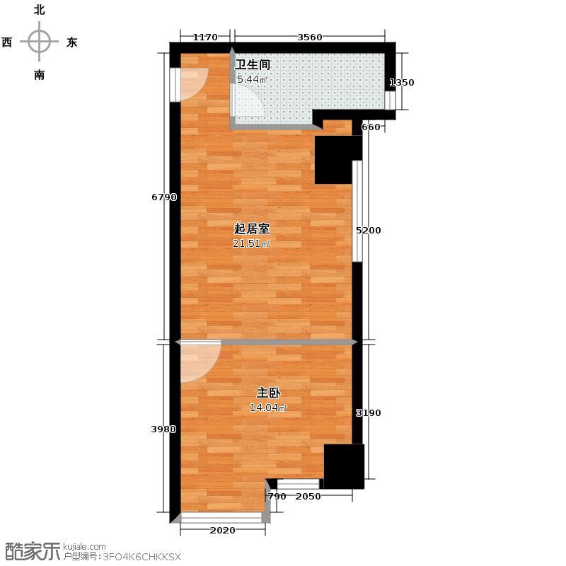 铁西万达广场65.58㎡户型1室1卫