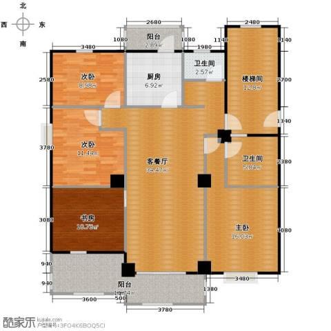 大丰水岸鑫城4室1厅2卫1厨131.00㎡户型图