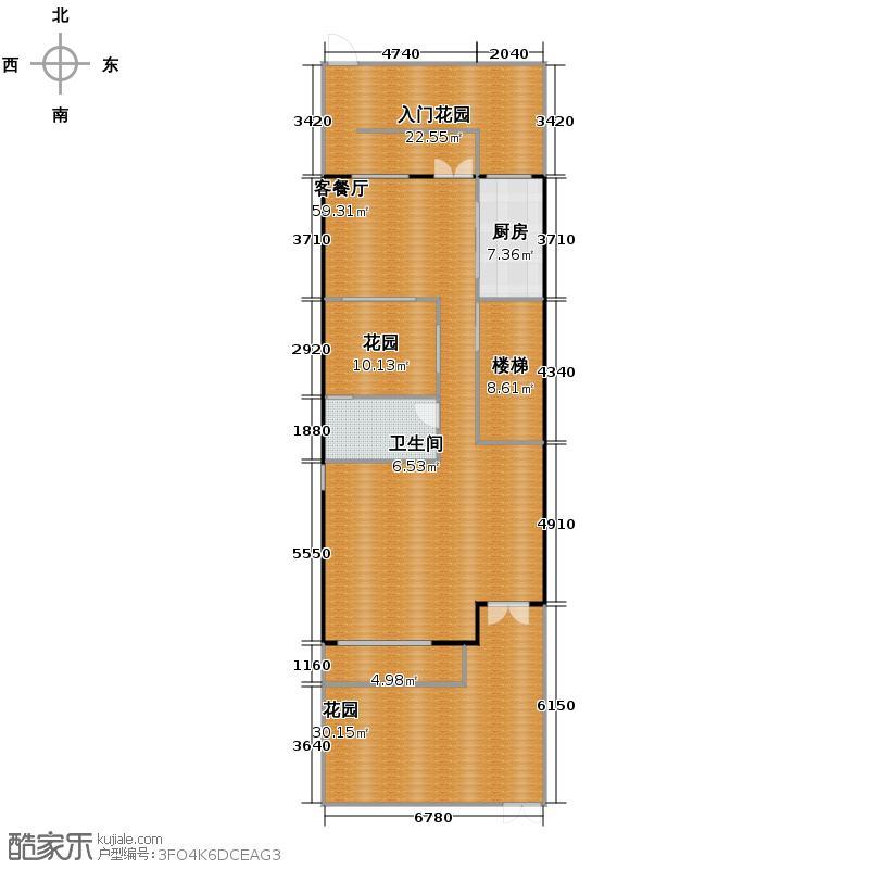 国信来凤街1号349.00㎡边户联排B1一层户型5室3厅3卫