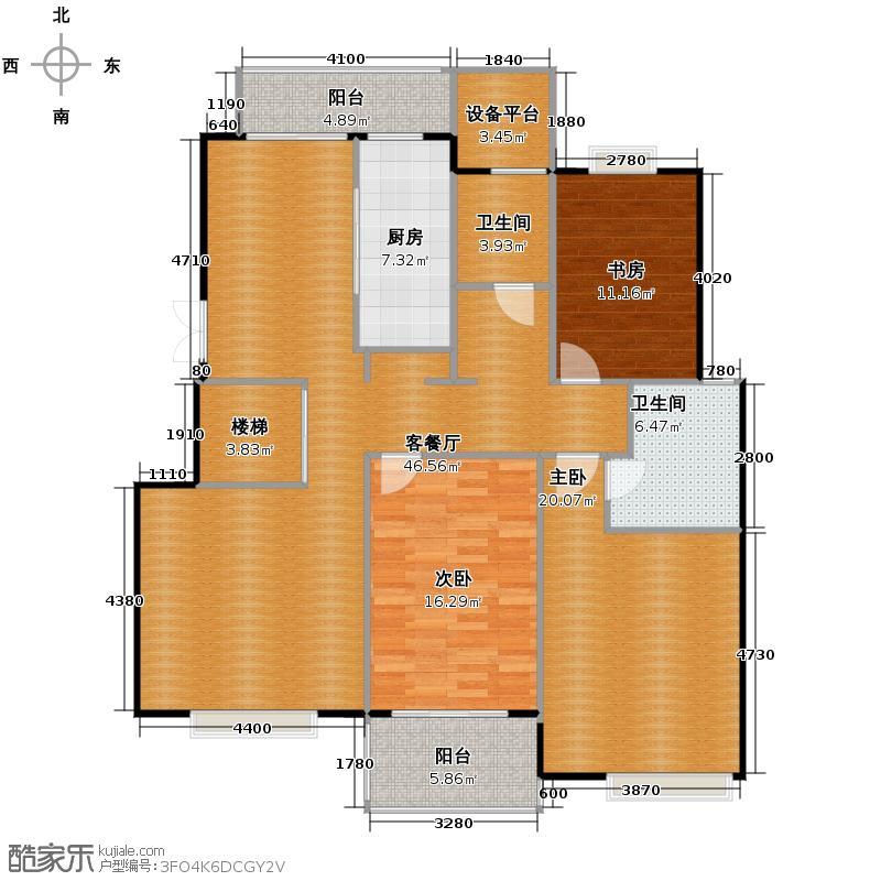 国信来凤街1号140.13㎡D5五层户型10室