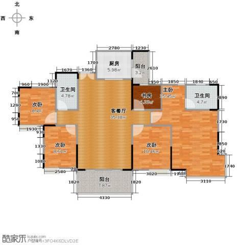 康怡丽苑5室1厅2卫1厨160.00㎡户型图