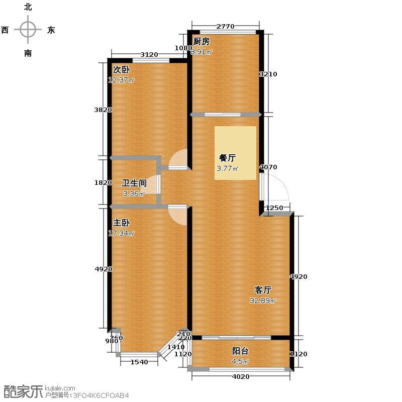 世代龙泽湾103.00㎡1/3/5/7/9#B户型10室