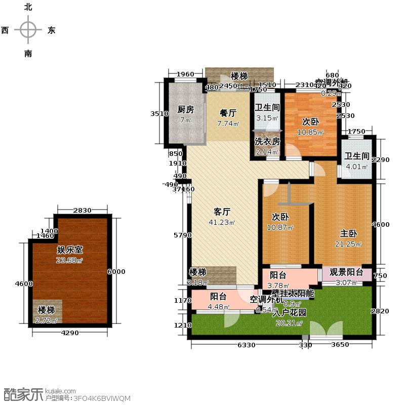 豪门府邸149.29㎡11#1层-户型3室1厅2卫1厨