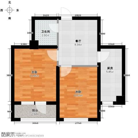 乐城2室1厅1卫0厨55.00㎡户型图