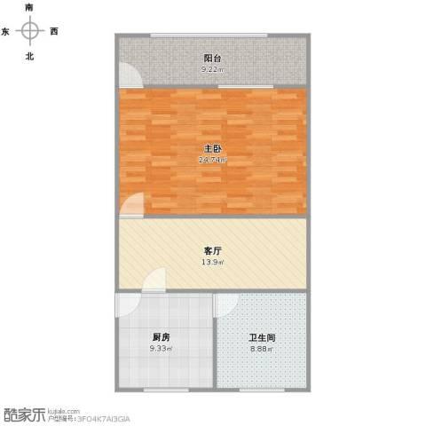 平型关路235弄小区1室1厅1卫1厨88.00㎡户型图