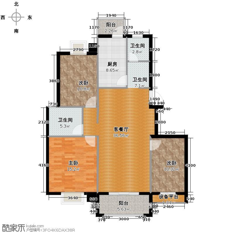 天华硅谷114.50㎡I户型10室