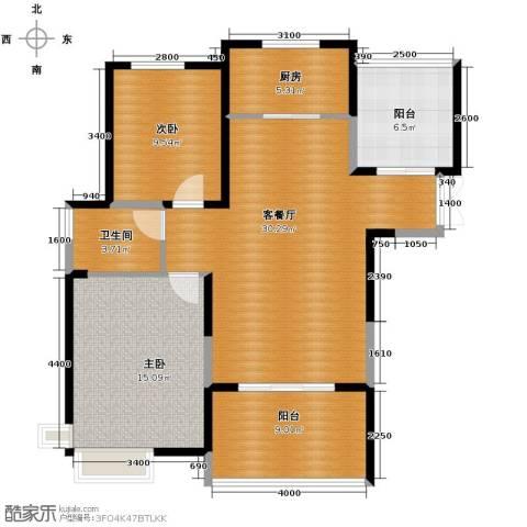 滨湖品阁2室1厅1卫1厨111.00㎡户型图
