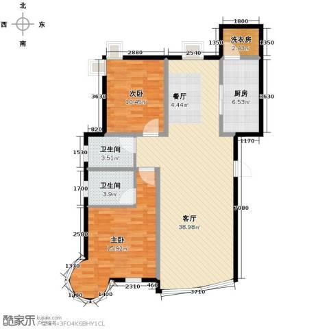 星河御城2室2厅2卫0厨118.00㎡户型图