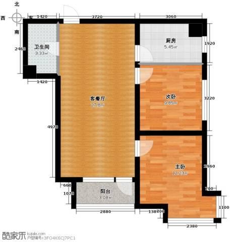 宏发长岛2室2厅1卫0厨71.11㎡户型图