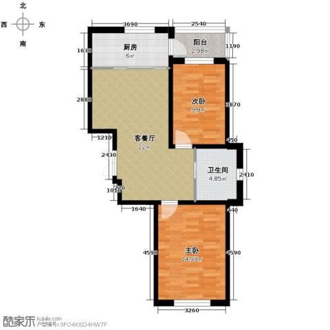 中意之尊2室1厅1卫0厨78.00㎡户型图