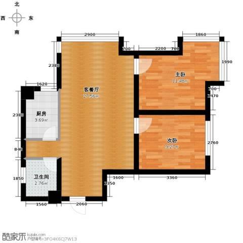宏发长岛2室2厅1卫0厨62.83㎡户型图
