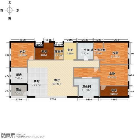 百大绿城西子国际5室1厅2卫1厨295.00㎡户型图