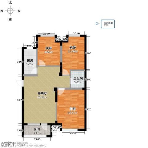 宏发长岛3室2厅1卫0厨89.64㎡户型图