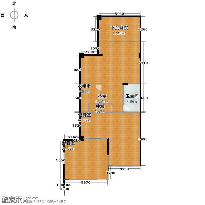 凤凰山庄158.00㎡一期联排C1地下室户型1室1厅1卫