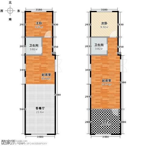 红龙湾1室1厅1卫0厨96.21㎡户型图