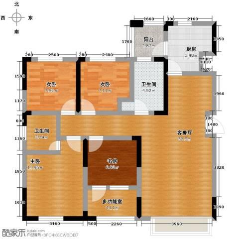 益田枫露4室2厅2卫0厨102.25㎡户型图