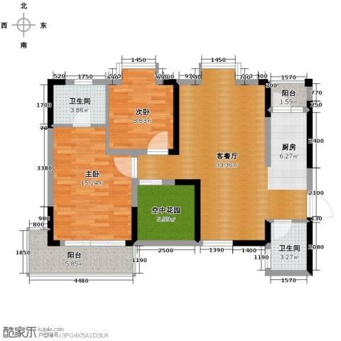 城郊涉外桃源2室1厅2卫0厨100.00㎡户型图