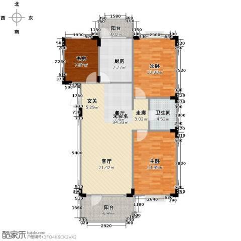 澳海西湖印象3室0厅1卫1厨102.00㎡户型图