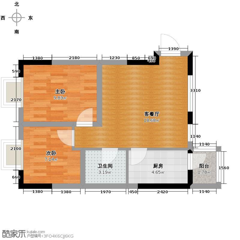 丽水金阳67.00㎡户型10室