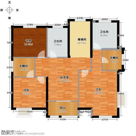 海景华苑3室0厅2卫0厨153.00㎡户型图