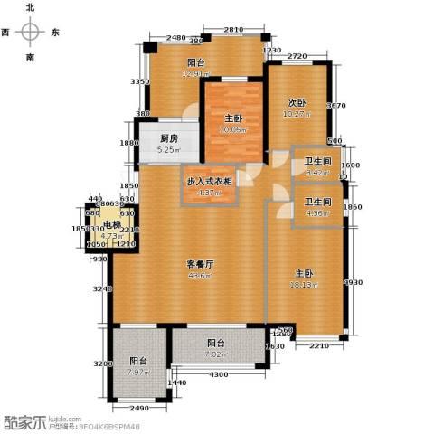 天山熙湖3室2厅2卫0厨138.00㎡户型图
