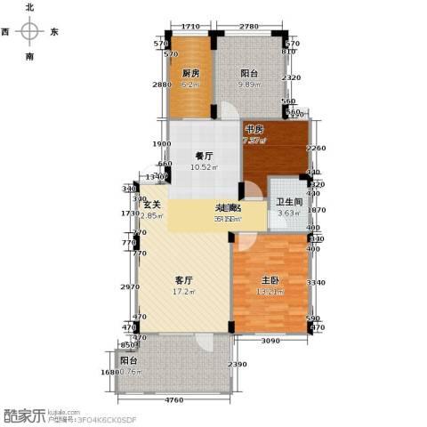 澳海西湖印象2室0厅1卫1厨87.00㎡户型图