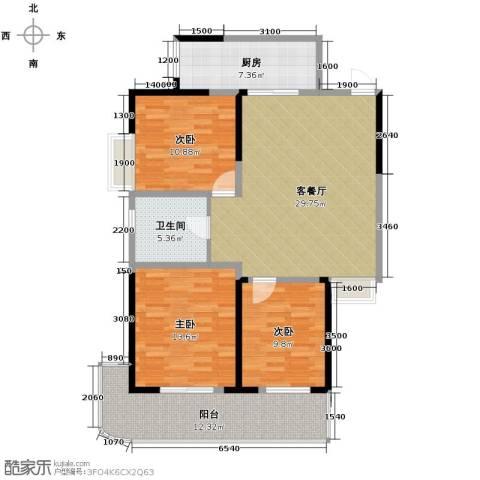 构峰源公馆124.00㎡户型图