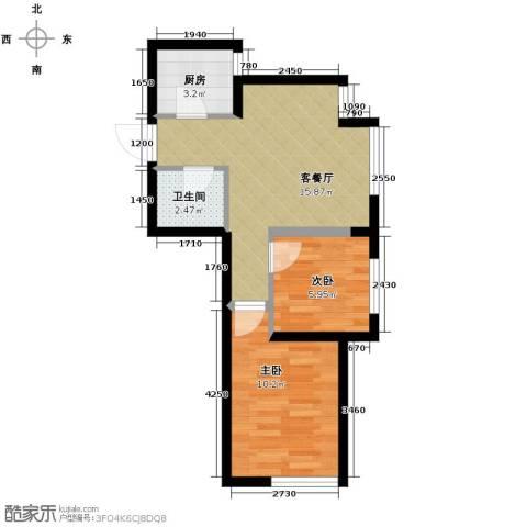 宏发长岛2室2厅1卫0厨44.08㎡户型图
