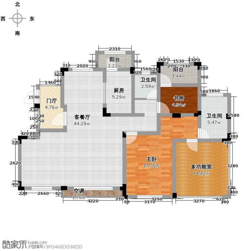 金科城6.00㎡墅质洋房6层户型10室