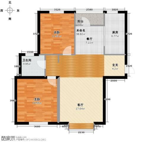 亚都名苑三期2室0厅1卫1厨103.00㎡户型图