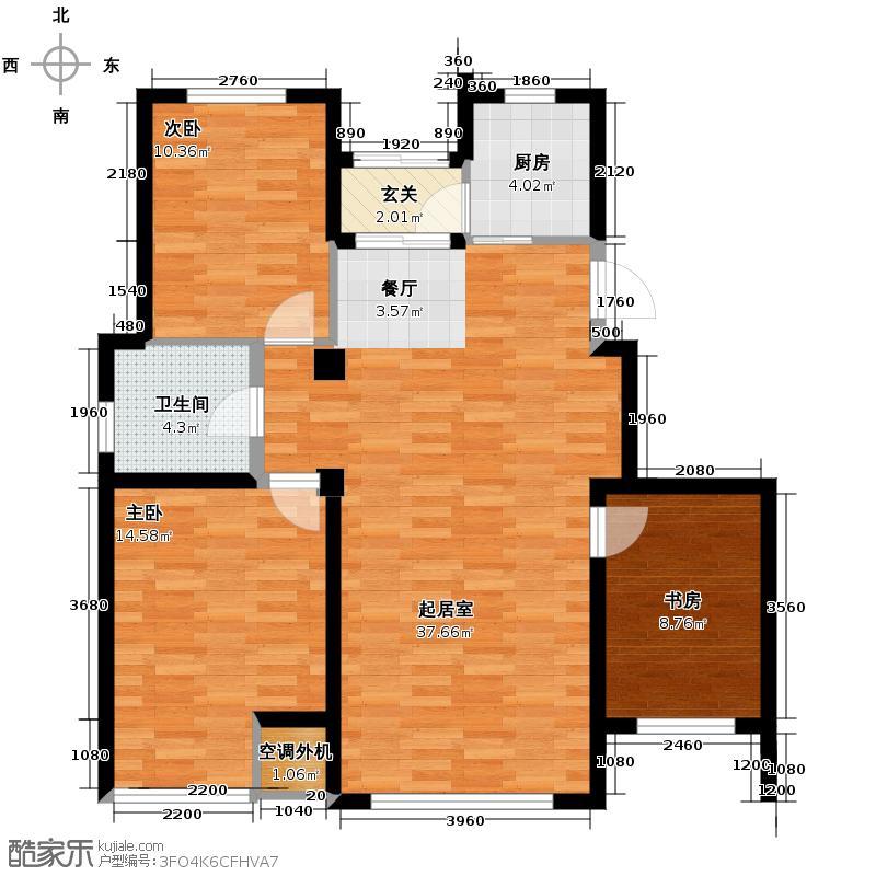 永盛水调歌城111.36㎡G8户型10室