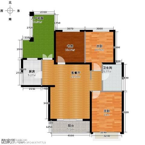 滨湖世纪城3室1厅1卫1厨130.00㎡户型图